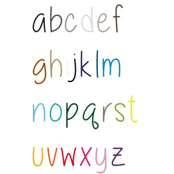 Plakletters eigen tekst | Lettertype 17