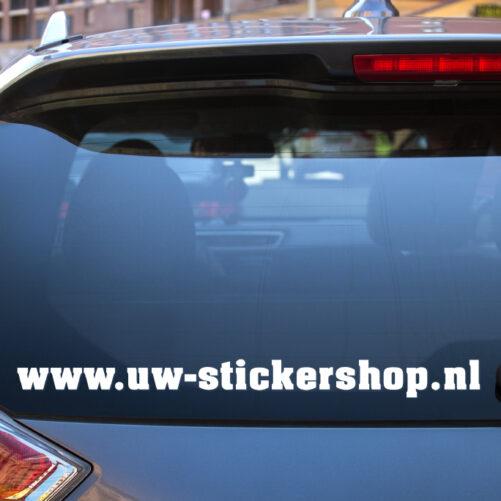 Autosticker raamband met eigen tekst