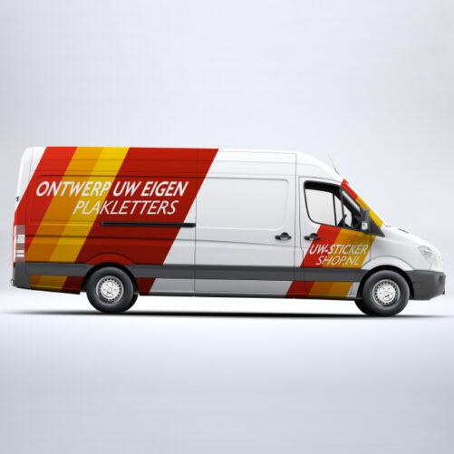 Bedrijfswagen belettering